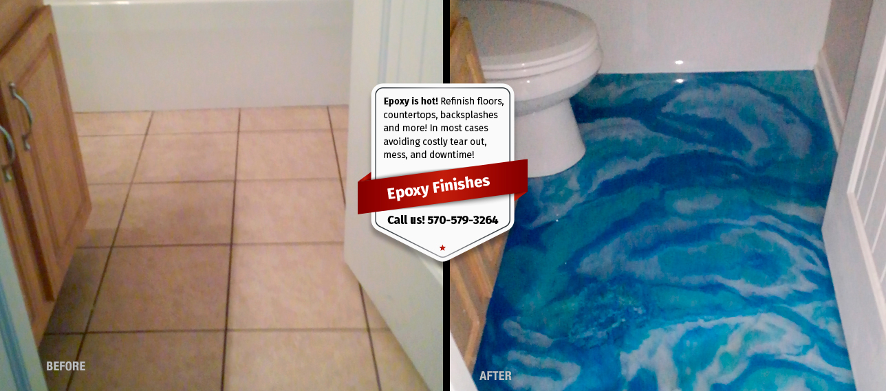 We Can Refinish Floors, Countertops, Shower Walls, And More! In Most Cases  Using Existing Materials Avoiding Costly Tear Out And Mess. Epoxy Finishes  Are ...